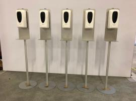 (5) MOD-9004 Hand Sanitizer Stands with Touch-less Dispensers